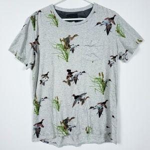 Mens Medium Duck Hunter Pocket T Shirt